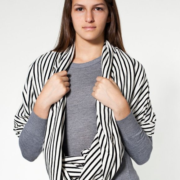 American Apparel Accessories - American Apparel Striped Infinity Scarf